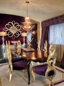 Desain Ruang Makan Keluarga Royal Mewah