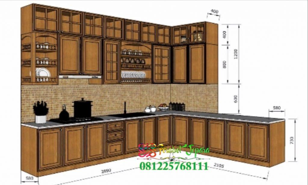 Desain 3D Kitchen Set Jati Jepara