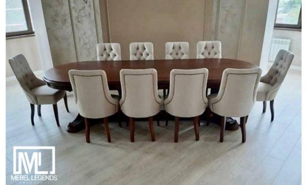 Set meja makan kursi 10 minimalis elegan