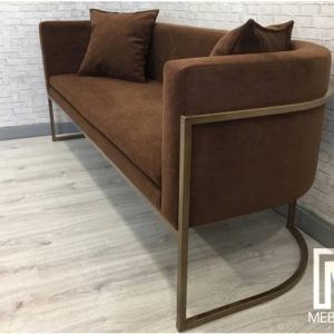 Sofa stainlisteel shabby 2 seater