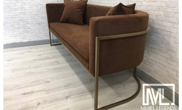 Sofa stainlisteel shabby 2 seater